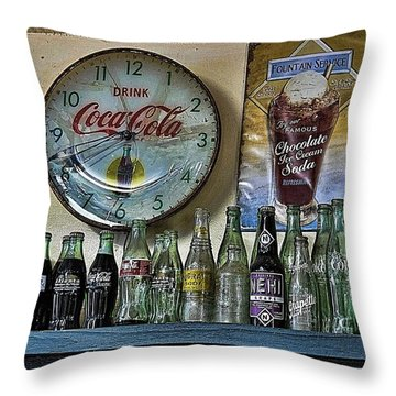 It Was Time For A Drink Throw Pillow by Jan Amiss Photography