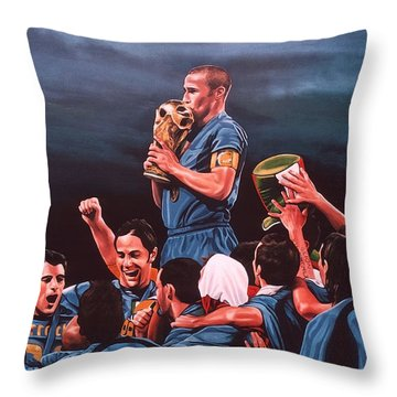 Italia The Blues Throw Pillow