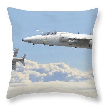 Throw Pillow featuring the digital art Italian Air Force - Ghibli by Pat Speirs