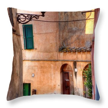 Italian Alley Throw Pillow by Silvia Ganora