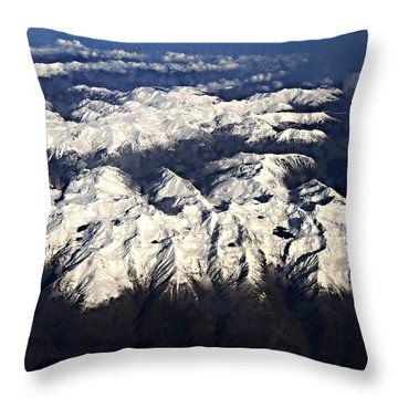 Italian Alps Throw Pillow by David and Lynn Keller