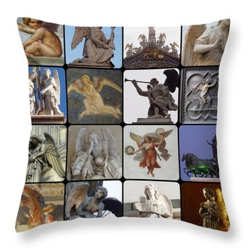 Throw Pillow featuring the photograph Italian Angels by Tim Mattox