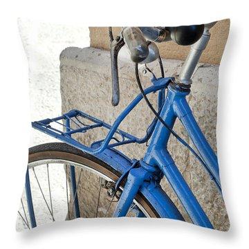 Italian Bike Throw Pillow by Robert Lacy