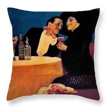 Italian Bitters Ad 1913 Throw Pillow