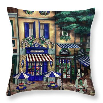 Italian Cafe Throw Pillow by Curtiss Shaffer