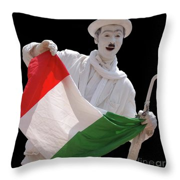 Italian Charlie Chaplin Throw Pillow