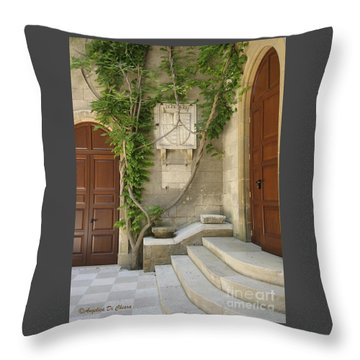 Italian Courtyard- Brindisi Throw Pillow