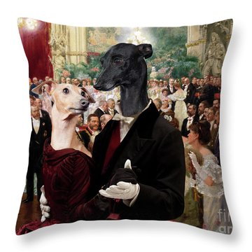 Italian Greyhound Art Canvas Print - Beautiful City Dance Hall Vienna Wilhelm Gause Throw Pillow