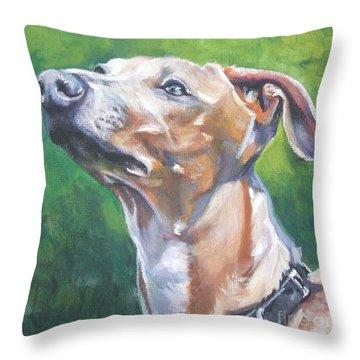 Italian Greyhound Throw Pillow by Lee Ann Shepard
