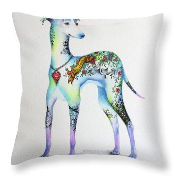 Italian Greyhound Tattoo Dog Throw Pillow