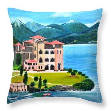Italian Landscape-casino Royale Throw Pillow
