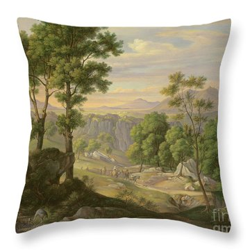 Italian Landscape Throw Pillow