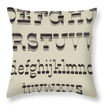 Italian, Large And Small Classic Font Throw Pillow