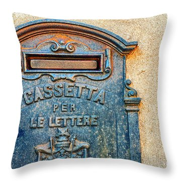 Italian Mailbox Throw Pillow by Silvia Ganora