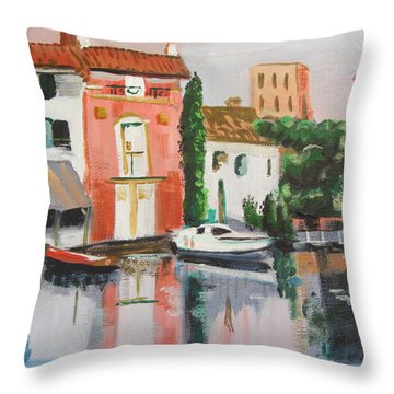 Italian Marina Throw Pillow
