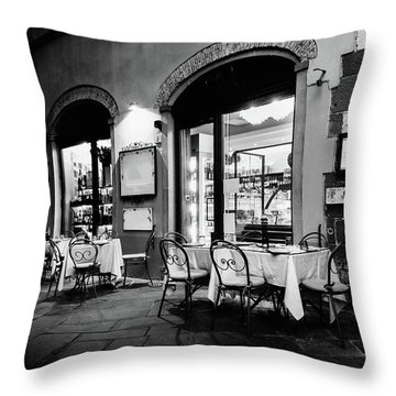 Italian Restaurant In Lucca, Italy Throw Pillow