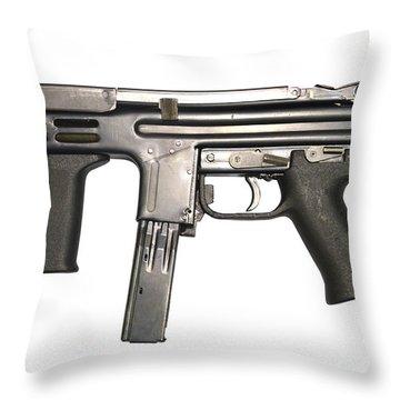 Italian Spectre M4 Submachine Gun Throw Pillow by Andrew Chittock