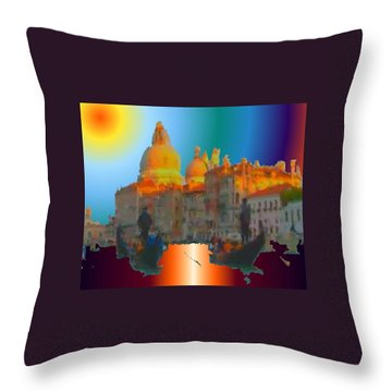 Italian Sunrise Throw Pillow