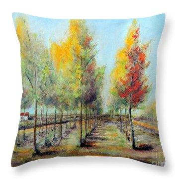 Italian Tree Farm Throw Pillow