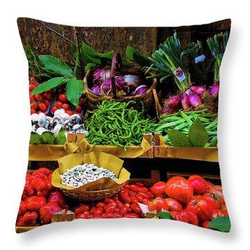 Italian Vegetables  Throw Pillow by Harry Spitz