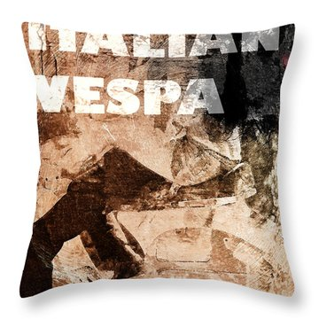 Italian Vespa Throw Pillow