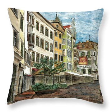 Italian Village 1 Throw Pillow by Debbie DeWitt