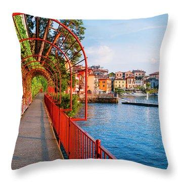 Italian Walk Of Love  Throw Pillow