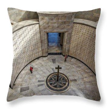 Throw Pillow featuring the photograph Italian World War One Shrine #3 by Stuart Litoff