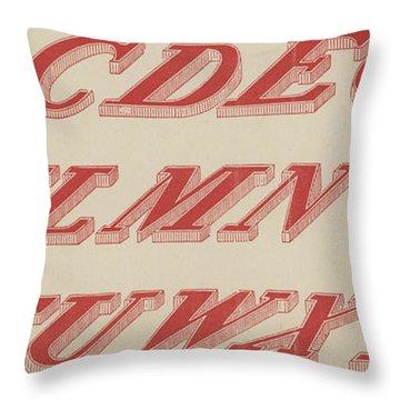 Italic Shaded  Throw Pillow