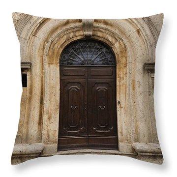 Italy - Door Eighteen Throw Pillow