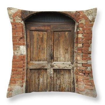 Italy - Door Eleven Throw Pillow