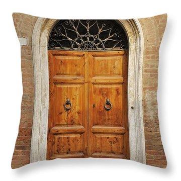 Italy - Door Fifteen Throw Pillow