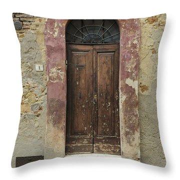 Italy - Door Seven Throw Pillow