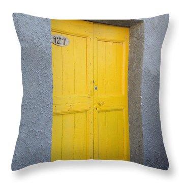Italy - Door Three Throw Pillow
