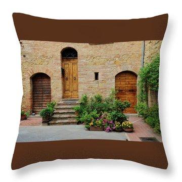 Italy - Door Eight Throw Pillow
