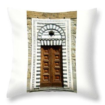 Italy, Door, Florence, Firenze Throw Pillow