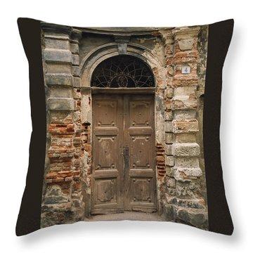 Italy - Door Four Throw Pillow