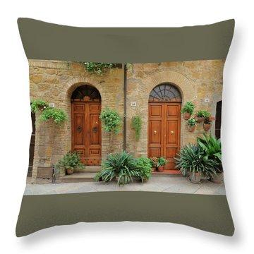 Italy - Door Seventeen Throw Pillow