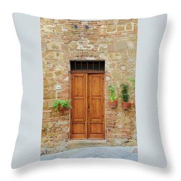 Italy - Door Six Throw Pillow