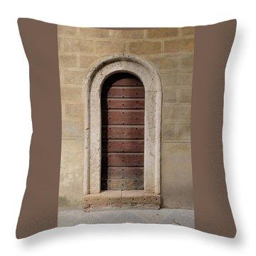 Italy - Door Ten Throw Pillow