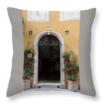 Italy - Door Thirteen Throw Pillow