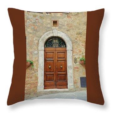Italy - Door Twelve Throw Pillow