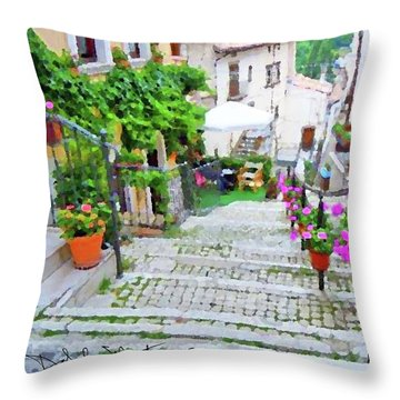 Italy In The Spring  Throw Pillow