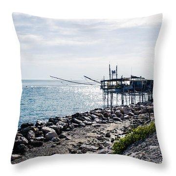 Italy - The Trabocchi Coast 2  Throw Pillow