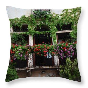 Italy Veneto Marostica Main Square Throw Pillow