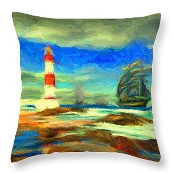 Itapua Lighthouse 1 Throw Pillow