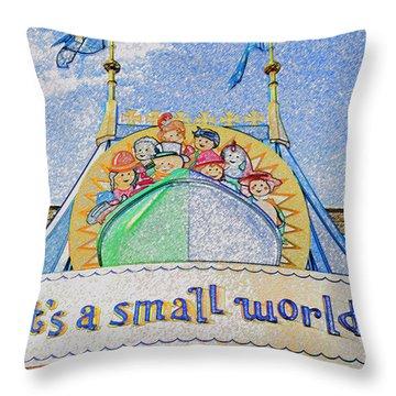 It's A Small World Entrance Original Work Throw Pillow