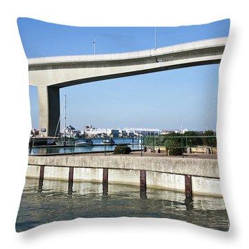 Itchen Bridge Southampton Throw Pillow by Terri Waters