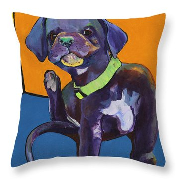 Itchy Throw Pillow by Pat Saunders-White
