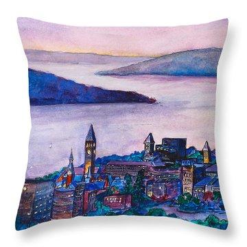 Ithaca Ny Throw Pillow